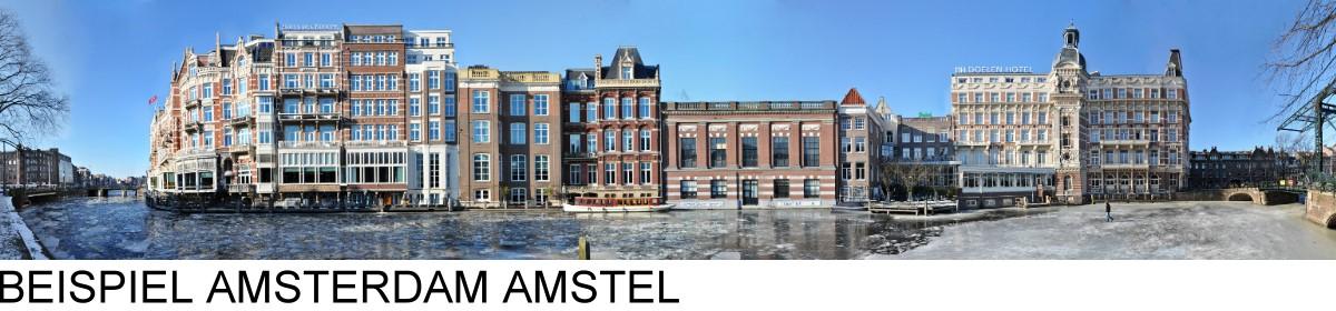 Amsterdam Streetline Panorama